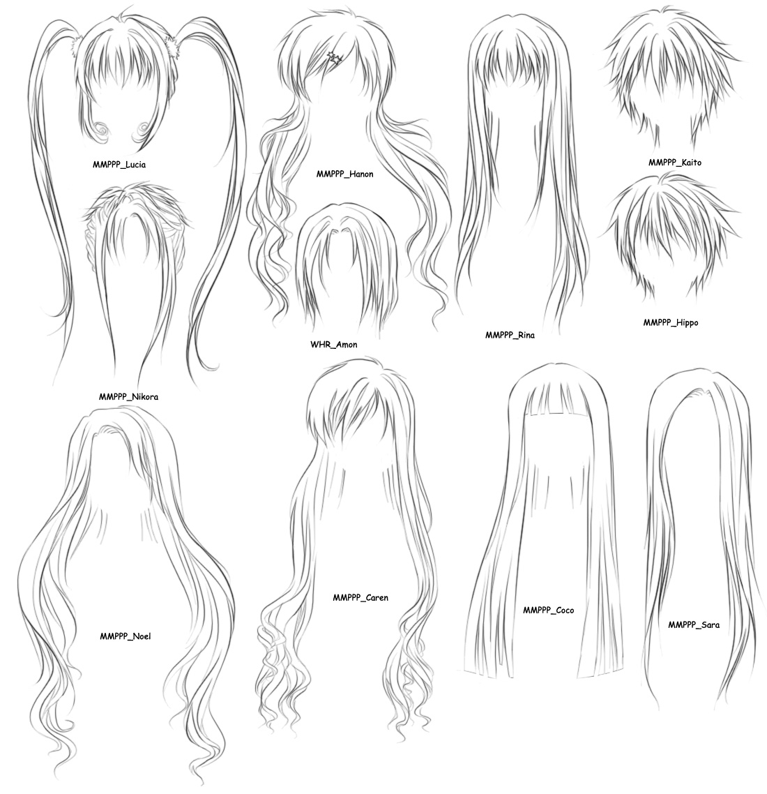 hairstyles coloring pages - photo #4